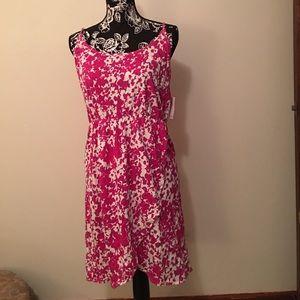 Beautiful Spring/Summer Pink& White Dress. NWT